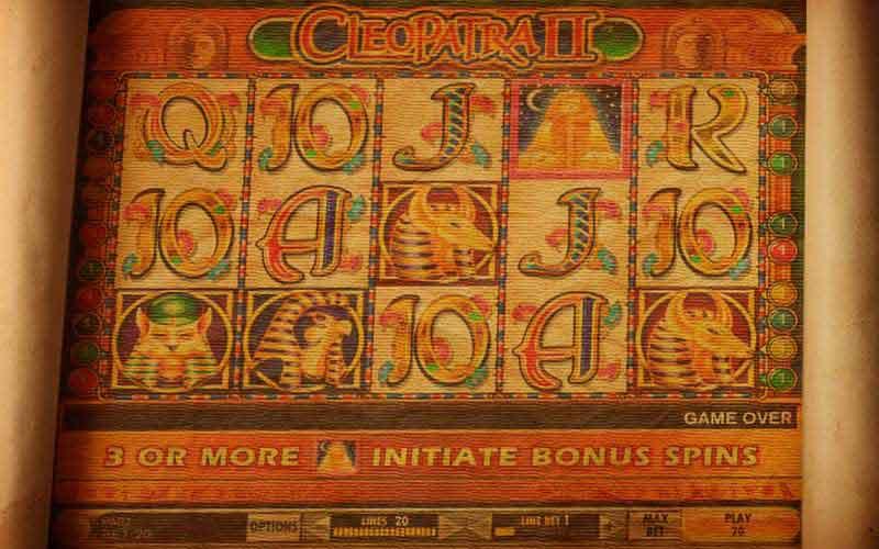Cleopatra ii slot machine